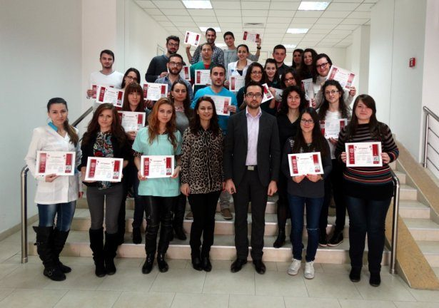 Обща снимка на факултативния курс - декември 2014