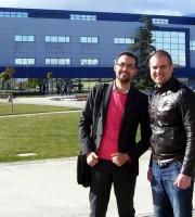 Обща снимка в двора на кампуса на Rey Juan Carlos Universiy в Мадрид (февруари 2011)