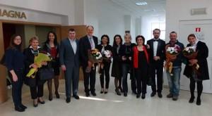 Обща снимла с официалните гости и лектори на Академията